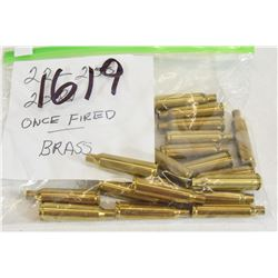 20 Pieces 22-250 Once Fired Brass