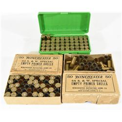 44 S&W Speciel Ammunition and Primed Brass