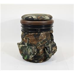 Bucket with Camo Covering and Camo Seat Lid
