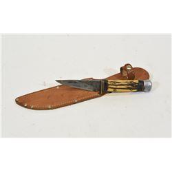 Home Made Knife with Leather Sheath