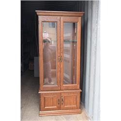 Wooden 8-Gun Cabinet