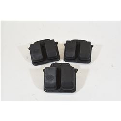 Three Fobus Double Stack Mag Pouches