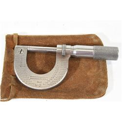 Analogue Micrometer with Leather Carry Pouch