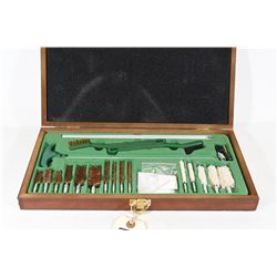 Complete Gun Cleaning Kit in Wooden Case