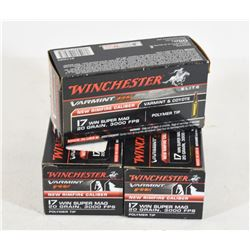 150 Rounds Winchester 17 Win Super Mag