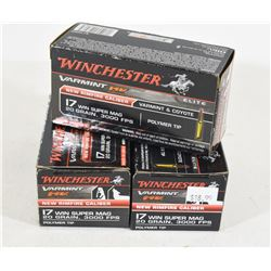125 Rounds Winchester 17 Win Super Mag