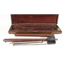 Pneumatic Cane Gun in Wood Case with Pump
