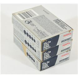 "15 Rounds Federal 12ga 3"" 00 Buck Ammunition"