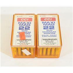 100 Rounds CCI Maxi Mag 22WMR Ammunition