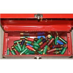 Tool Box with 64 Rounds of Mixed 12ga Ammunition