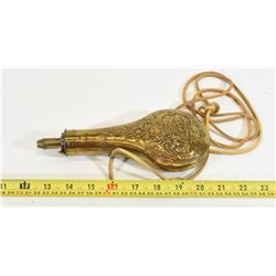 Brass Embossed Antique Powder Flask