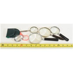 7 Assorted Magnifying Glasses