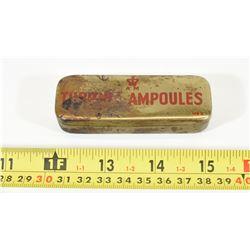 Antique WW2 Monoject Ampoule Morphine Syringe's