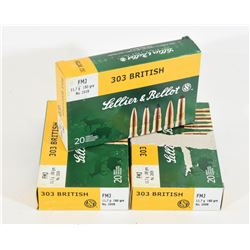 60 Rounds Sellier & Bellot 303 Brit Ammunition