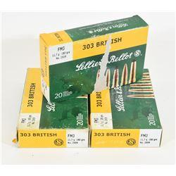 60 Rounds Sellier & Bellot 303 Brit Ammunition