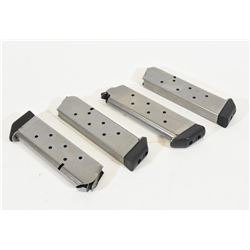 Four Shooting Star Stainless Steel 45cal Magazines