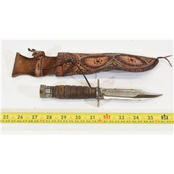 Hunting Knife With Saw Back.