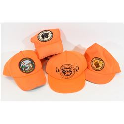4 Ontario Safety Orange Large Game Caps