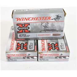 58 Rounds Winchester 270 150gr PP
