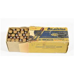 50 Rounds CIL 351 Winchester 180gr SP