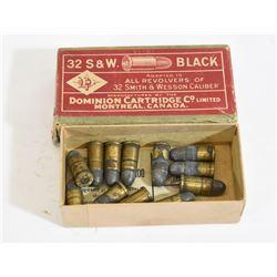 12 Rnds. Dominion 32 S & W Black Powder Ammo