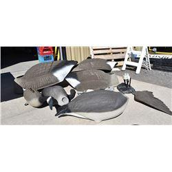 Box Lot Goose Decoy Bodies & Parts