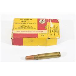 10 Rounds Kynoch 9.5mm Mannlicher
