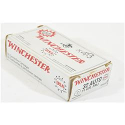49 Rounds Winchester 32 Auto 71gr FMJ