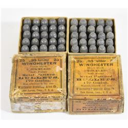 50 Pieces Vintage 30cal Winchester Bullets