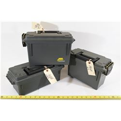 3 Plastic Ammo Cans