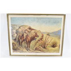 The Apache Antique Print by Fredrick Remington