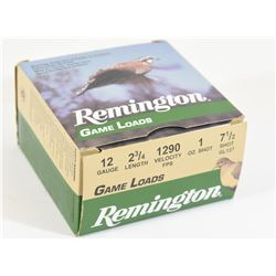 "25 Rounds Remington 12ga 2 3/4"" #7.5"