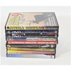 9 Assorted DVD's