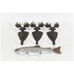 Cast Iron Moose Coat Hangers