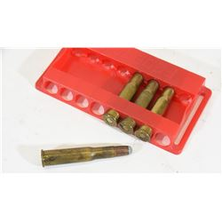 4 Rounds of  303 Savage Ammo