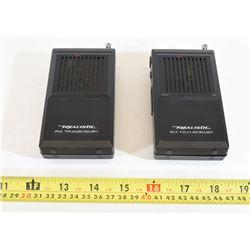2 Realistic FM Transceivers
