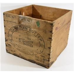 Canadian Butter Wooden Crate