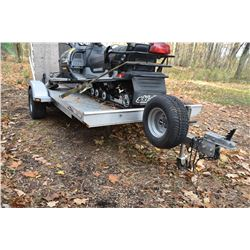 Triton Single Place Aluminium Snowmobile Trailer
