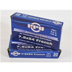 40 Rounds PPU 7,5x54 French 139gr FMJ
