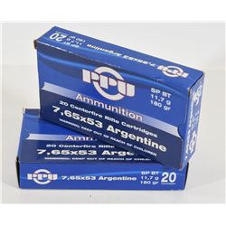 40 Rounds PPU 7,65x53 Argentine 180gr SP BT