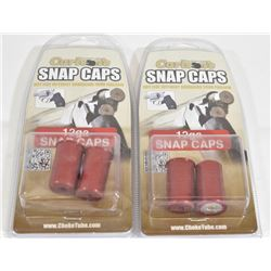 2 Packs of 2 12 gauge Snap Caps