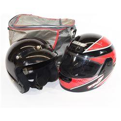 2 Motorbike Helmets