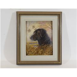 Black Lab 3-D Portrait