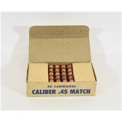 1962 Match Grade M1911 230gr Ball Ammunition
