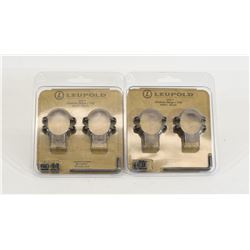 2 Leupold STD Medium Rings Model 49901