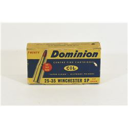 16 Rounds Dominion 25-35 Winchester 117gr SP