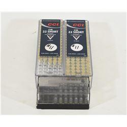 210 Rounds of 22 Short Ammunition