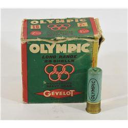 "Gevelot Olympic 16 Gauge 2 3/4"" #7 1/2 Shot Size"