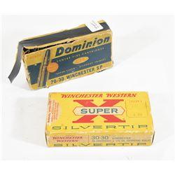 Assorted 30-30 Winchester Ammunition