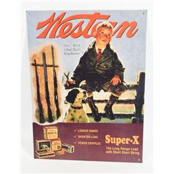 Western Super-X Metal Sign